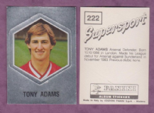 Arsenal Tony Adams England 222